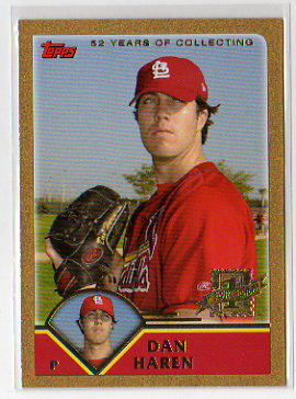 2003 Topps Traded Dan Haren Gold Parallel