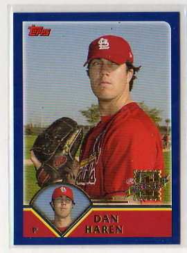 2003 Topps Traded Dan Haren Rookie Card
